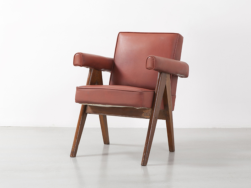 pierre_jeanneret_Office_chair_red_1