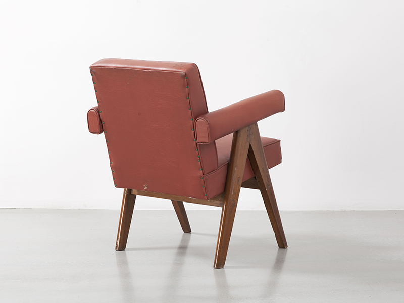 pierre_jeanneret_Office_chair_red_2