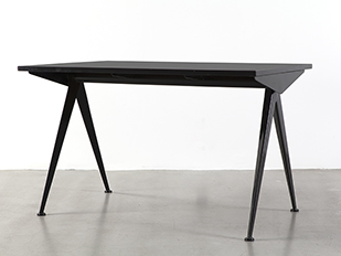 jean_prouve_small_black_cafeteria_table