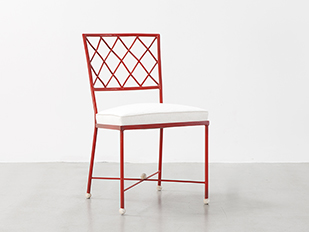 jean-royere-red-croisillon-chair