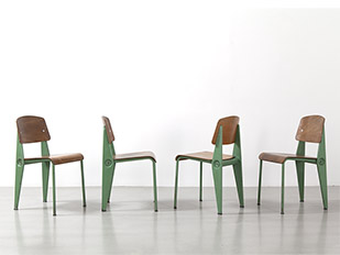 jean-prouve-green-demontable-chairs