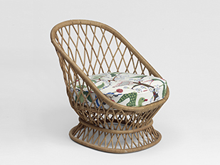 jean-royere-armchair-rattan