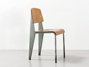 jean-prouve-green-enameled-metropole-chair