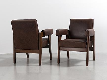 chaise de bureau capitol high marron