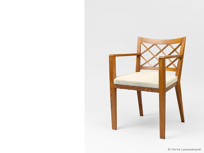 jean roy re fauteuil croisillon ca 1950 galerie patrick seguin. Black Bedroom Furniture Sets. Home Design Ideas
