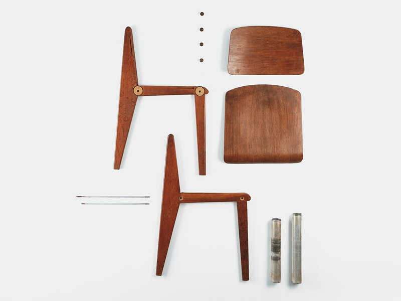 jean prouv chaise d montable galerie patrick seguin. Black Bedroom Furniture Sets. Home Design Ideas