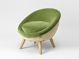 jean royere fauteuil oeuf galerie patrick seguin version fr. Black Bedroom Furniture Sets. Home Design Ideas
