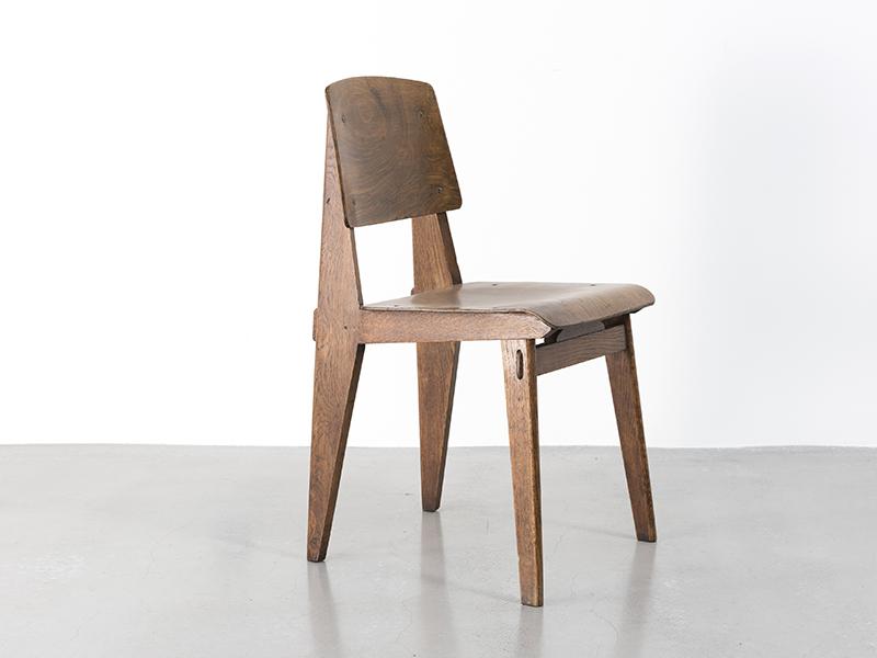 jean prouvé - chaise tout bois - galerie patrick seguin - Chaise Jean Prouve Prix