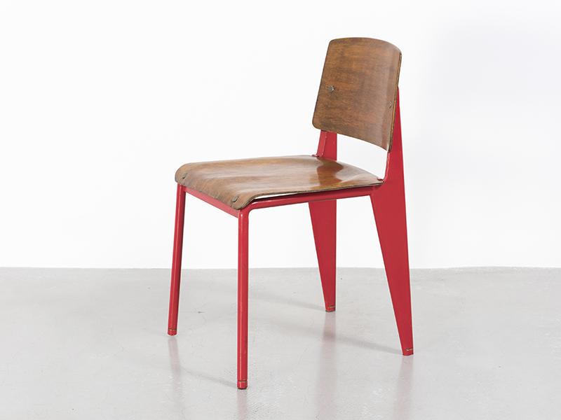 jean prouvé - chaise n°4 rouge, 1934 - galerie patrick seguin - Chaise Jean Prouve Prix