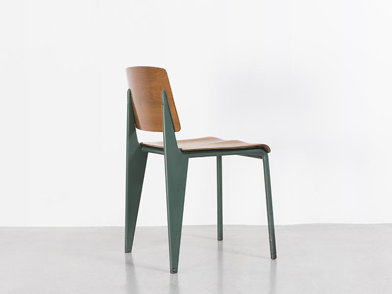 jean prouvé - chaise n°4 (verte), 1934 - galerie patrick seguin - Chaise Jean Prouve Prix
