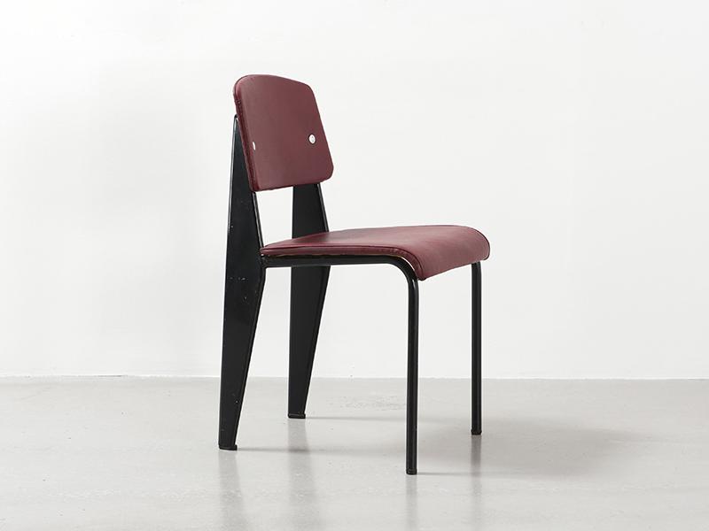 jean prouvé - chaise skaï (rouge), ca. 1952 - galerie patrick seguin - Chaise Jean Prouve Prix
