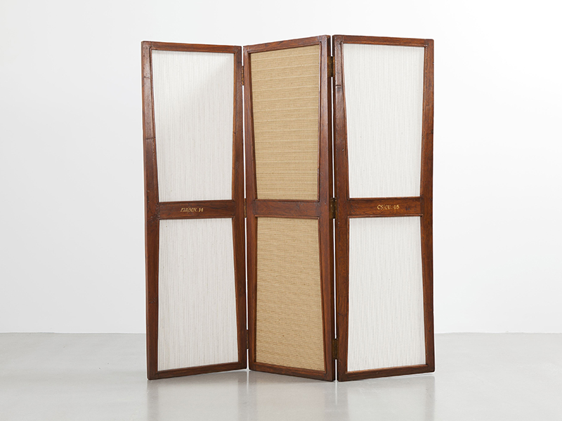 pierre jeanneret paravent ca 1957 1958 galerie. Black Bedroom Furniture Sets. Home Design Ideas