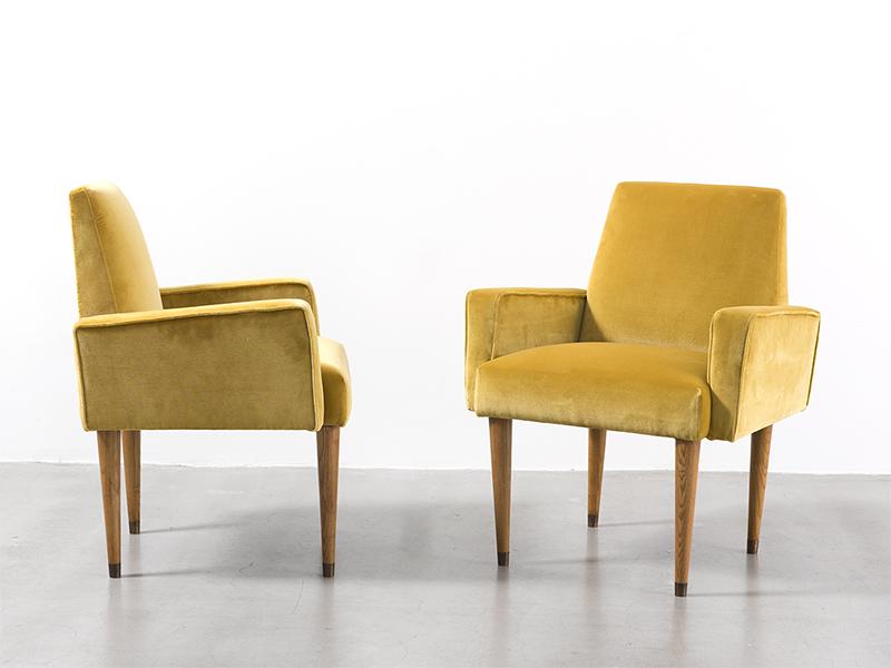 jean roy re paire de fauteuils ca 1960 galerie patrick seguin. Black Bedroom Furniture Sets. Home Design Ideas