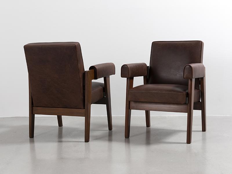 le corbusier fauteuil dit advocate chair cuir ca. Black Bedroom Furniture Sets. Home Design Ideas